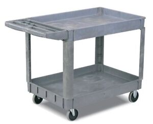 I lift Heavy Duty 2 shelf Utility Service Cart 550 Lb Capacity 37 X 18 X 33