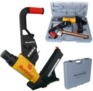 Flooring Cleat Nailer And Stapler Gun 2 in 1 Air Hardwood Pneumatic Power Tool