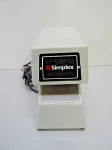 Simplex 1605 9001 Time Stamp 1605 Time Clock With Key 2 Purple Ribbons