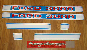F502hb Hood Decal Set For Ford New Holland Tractor 3000 C9nn16n689a C9nn16n682f