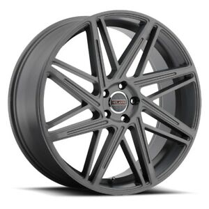 Milanni 9062 Blitz Rim 18x8 5 5x120 Offset 38 Anthracite qty Of 4