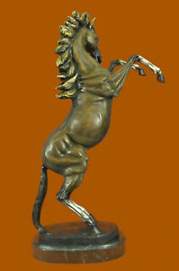 Handmade Hand Crafted Wild Horse Collector Bronze Sculpture Figurine Figure Art