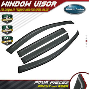 4x Window Visors Vent Rain Guards Shields For Chevrolet Traverse 2009 2016 New