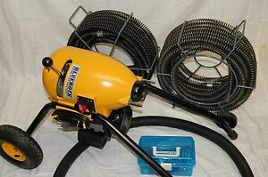 Package Deal Bluerock Tools Sds200 2 8 Sectional Pipe Drain Cleaning Machine