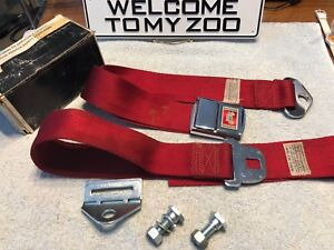 1964 65 66 Gm Chevy Buick Olds Pontiac Deluxe Seat Belts Red Skylark Chevelle