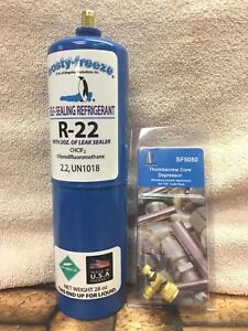 R22 Refrigerant R 22 28 Oz With Leak Stop Pro Seal Xl4 Good For Up To 5 Tons