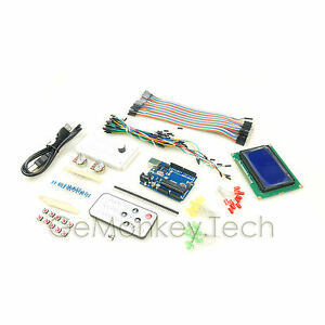 12864 Blue Lcd Ir Control Kits Female male Cable For Arduino Uno Compatible
