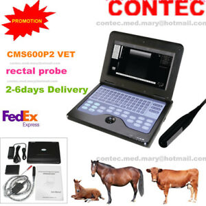 Contec Vet Veterinary Use Laptop Ultrasound Machine 7 5mhz Rectal Probe cms600p2