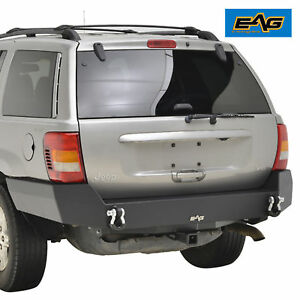Eag 99 04 Jeep Grand Cherokee Wj Steel Rear Bumper With 2 Receiver Hitch