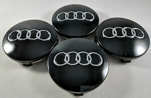 4x Pc Wheel Center Hub Caps Black Replacements 60mm 2 3 Inch For Audi 4b0601170