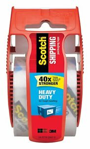 Scotch Heavy Duty Shipping Packaging Tape 1 88 Inches X 800 Inches 29 Rolls