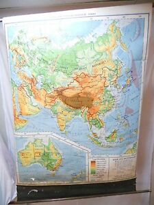 Landform Physical Political Map Series 1940 Asia Australia Soviet Republic