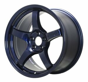 18 Staggered Rays Gram Lights 57cr Eternal Blue Wheels 350z 370z G35 Coupe