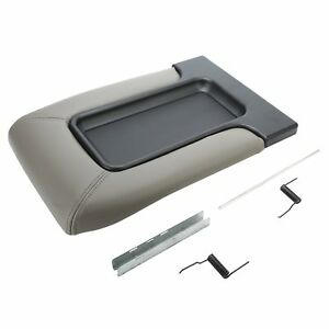 For Chevrolet Silverado Gmc Sierra Tahoe 99 07 Center Console Cover Lid Kit Grey