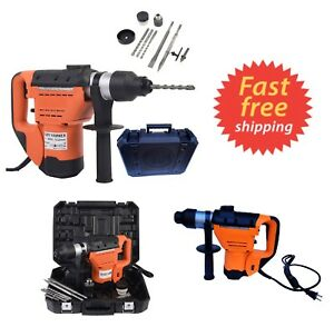 1 1 2 Electric Rotary Hammer Drill W Bits Sds 900 Rpm Variable Speed Roto Tool
