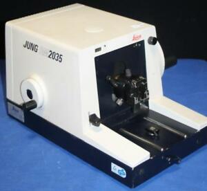 Leica Jung Rm2035 Microtome Germany Microscope Slide Rm 2035 free Shipping