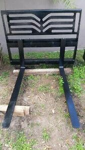 Skid Steer Attachment 48 Forks Mid state Model 83 80 3700 Lbs Fits Bobcat