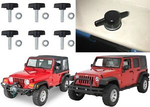 1995 2018 Jeep Wrangler Tj Jk Hardtop Quick Removal Knob Kit New Free Shipping