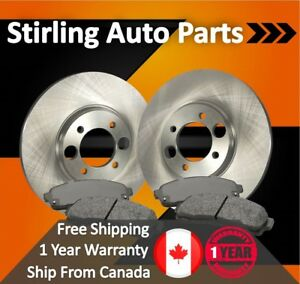 1998 1999 2000 For Ford Contour Svt Front Disc Brake Rotors And Ceramic Pads