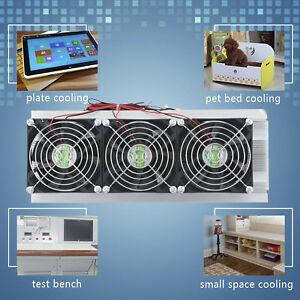 Trinuclear Thermoelectric Peltier Refrigeration Air Cooling System Kit Cooler