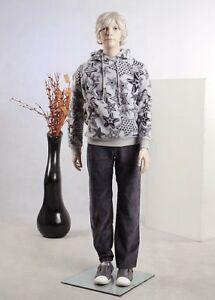 Brand New Beautiful Child Boy Male Full Body Fiberglass Realistic Mannequin F