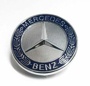 Bonnet Badge Standing Star Emblem Hood For Mercedes Benz C Clk E S Class W210