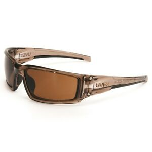 Uvex Hypershock Safety Glasses With Brown Anti fog Lens