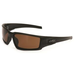 Uvex Hypershock Safety Glasses With Brown Polarized Lens Black Frame