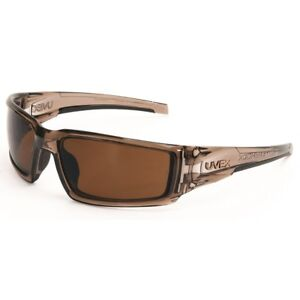 Uvex Hypershock Safety Glasses With Brown Polarized Lens Brown Frame