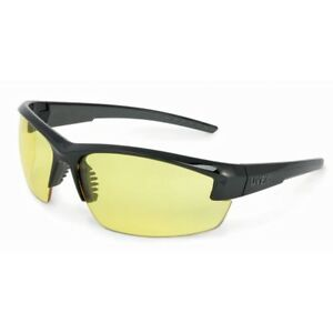 Uvex Mercury Safety Glasses With Amber Anti fog Lens Black Frame