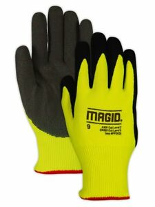Magid Glove Safety Ppd5208 Ppd520 High visibility Nitrix Coated Padded Palm 2