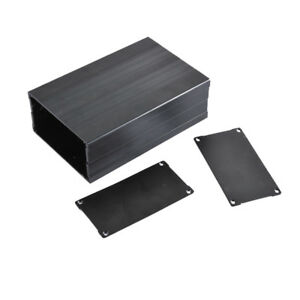 New Electronic Projects Aluminum Box Enclosure Case Diy 56x106x160mm Black 1991