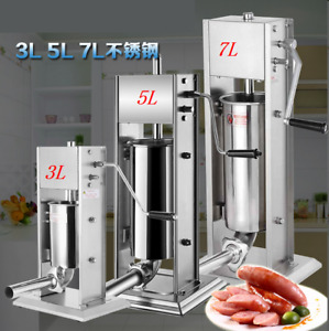 3l Vertical Sausage Stuffer Stainless Steel Commercial Sausage Filler 4xtubes