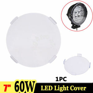 1x Snap On Clear Lens Cover For 7 Inch 60w Round Led Driving Work Light 4wd Suv