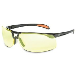 Uvex Protege Safety Glasses With Amber Lens Black Frame