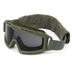 Uvex Xmf Tactical Goggles With Smoke Anti fog Lens Green Frame