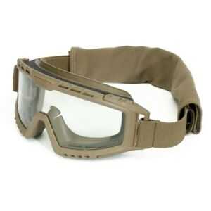 Uvex Xmf Tactical Goggles With Clear Anti fog Lens Tan Frame