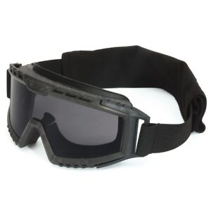 Uvex Xmf Tactical Goggles With Smoke Anti fog Lens Black Frame