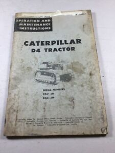 Caterpillar D4 Tractor Operation And Maintenance Manual