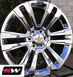 Chevy Suburban Wheels 20 Inch 2017 2018 Gmc Yukon Denali Chrome Rims 20x9