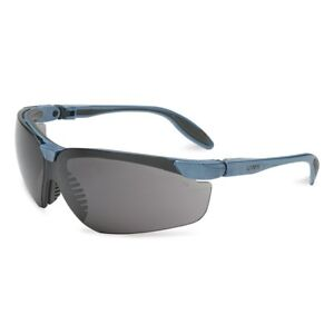 Uvex Genesis S Safety Glasses With Smoke Lens Blue Frame