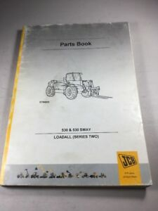 Jcb 530 530 Sway Loadall Series 2 Parts Book