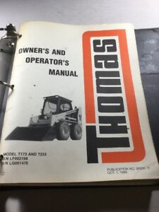 Thomas T173 And T233 Skid Steer Service Manual Operators Manual