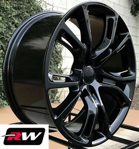 22 Inch Rw Wheels For Jeep Grand Cherokee Gloss Black Rims Srt8 Spider Monkey