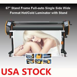67 Full auto Single Side Wide Format Hot cold Laminator With Stand Us Stock
