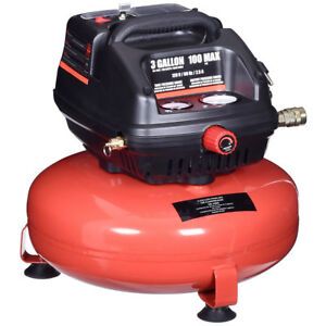 3 Gallon 100 Psi Oil free Pancake Air Compressor 0 5 Hp Motor Portable New