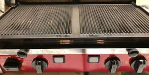 Astoria Heavy duty Double Panini Sandwich Grill Grooved Commercial Press 220v