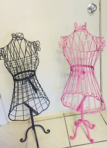 2 Child Size Wire Metal Dress Form Mannequins Clothing Jewelry Shop Display