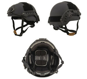 Lancer Tactical Sentry Style Airsoft Mil-Sim Helmet in Black LargeXL CA-876B