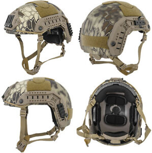 Maritime FAST Tactical Advanced Helmet LXL + Accessories in HLD Scorpion Camo
